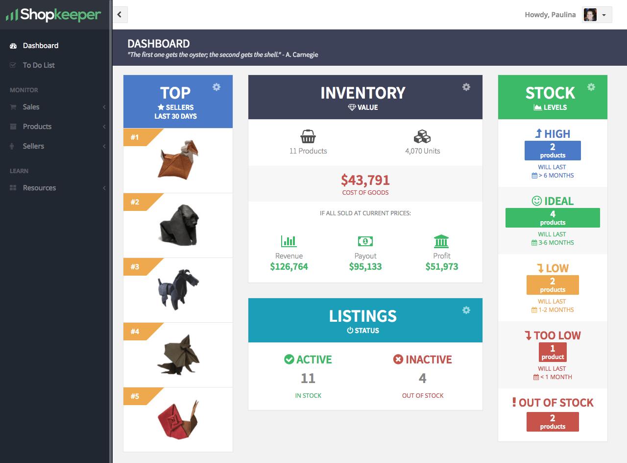 Inventory Widgets