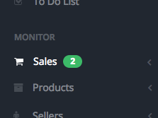 Number of Unseen Sales is displayed on the sidebar